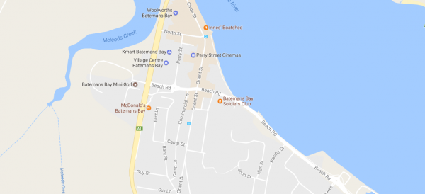 Batemans Bay map