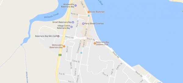Batemans Bay map