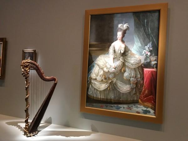 Marie-Antoinette, right, with her harp, left. Photo: Charlotte Harper