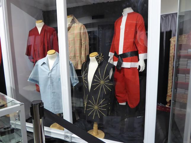 Some Elvis outfits at Elvis exhibit in Visitors Centre, Parkes