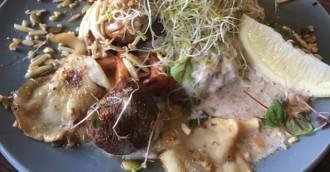 Off the menu  Samuel Scott  8217 s wild mushroom   cauliflower waffle recipe
