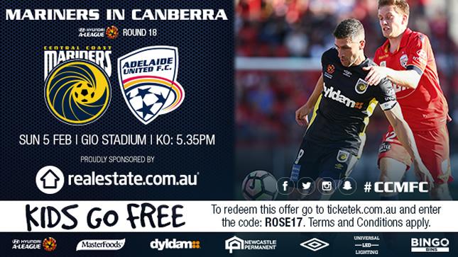 Central Coast Mariners v Adelaide United