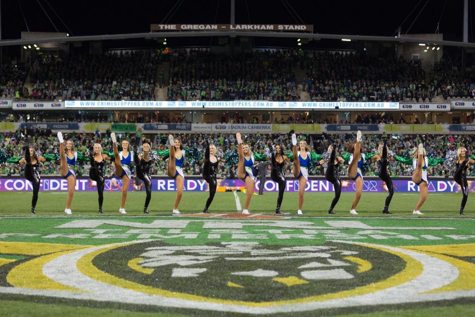 The Emeralds, the Raiders cheerleading squad. Photo: Emeralds' Facebook page