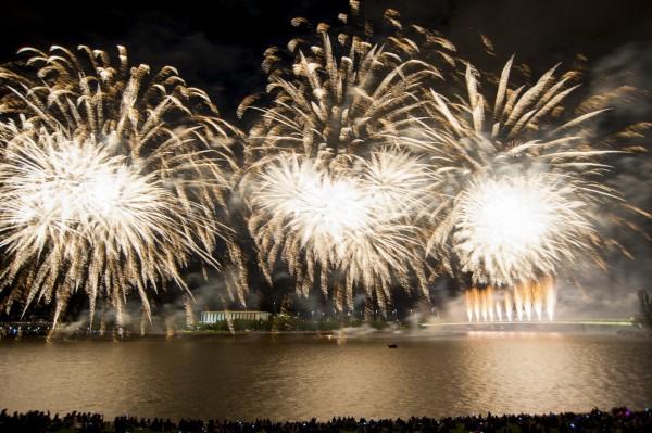 Fireworks over Lake Burley Griffin