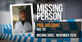 Police seek help to locate Paul Williams  52  missing since November