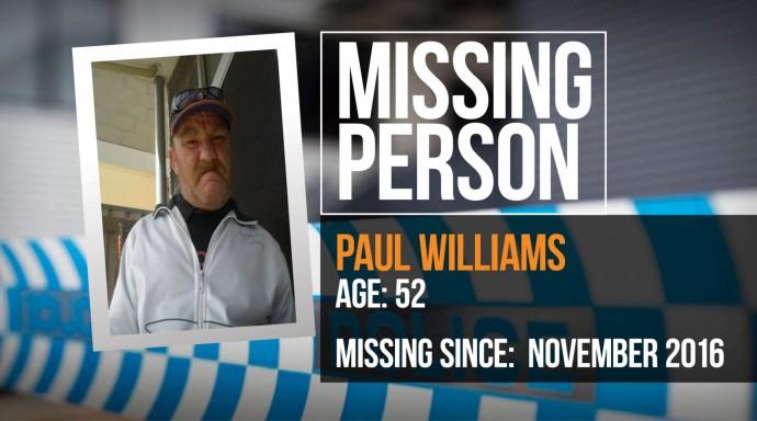 Police seek help to locate Paul Williams, 52, missing since November