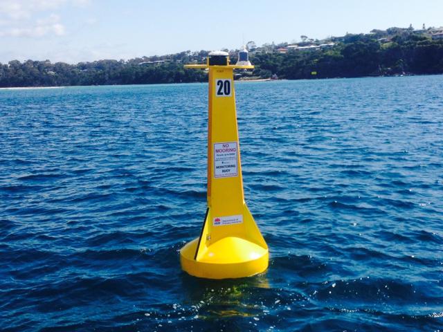 Shark listening station - Merimbula. Photo: DPI