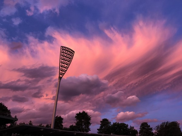 Feathered clouds at Manuka Oval. Photo: Charlotte Harper