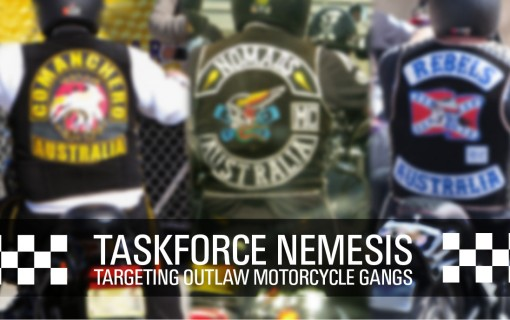 Two men involved in bikie-related shooting to face court after Taskforce Nemesis seize guns and drugs during raid