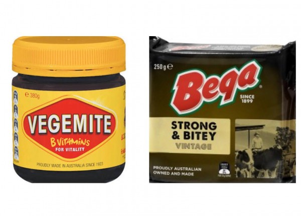 Vegemite and Bega.