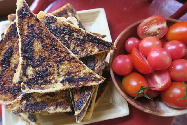 Crispy vegemite toasts