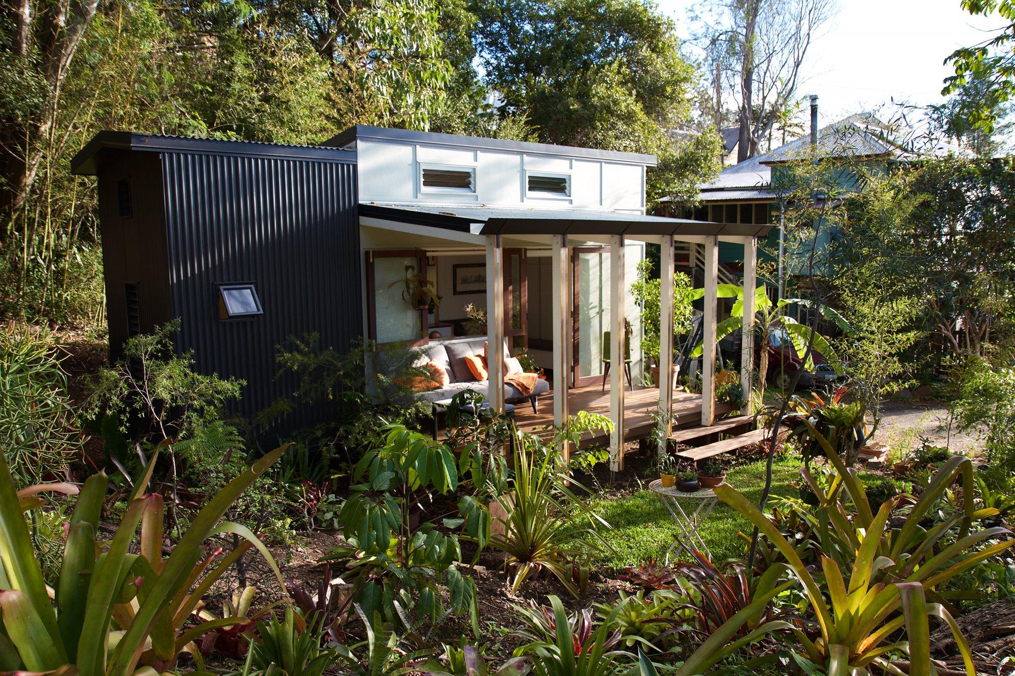 External in garden