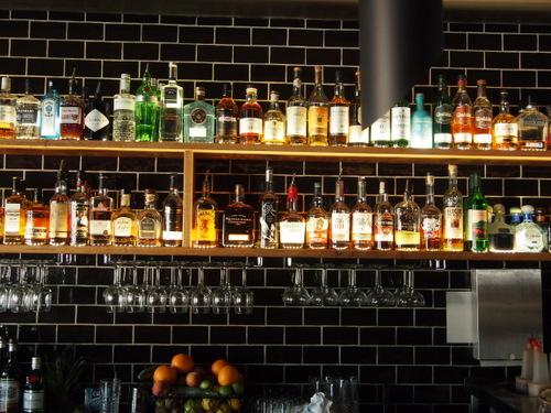 Bottles on display at Maple Bar
