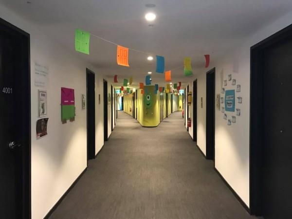 SA5 hallway. Photo: Charlotte Harper