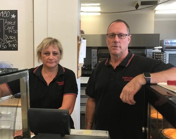 Yarralumla Bakery staff Barbara Brooker and Scott Gorham. Photo: Charlotte Harper