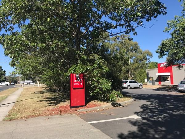 KFC Fyshwick with Canberra Avenue and Narrabundah in the background. Photo: Charlotte Harper