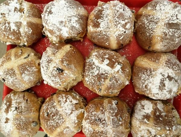 Danny's Bakery Dutch-style sourdough hot cross buns