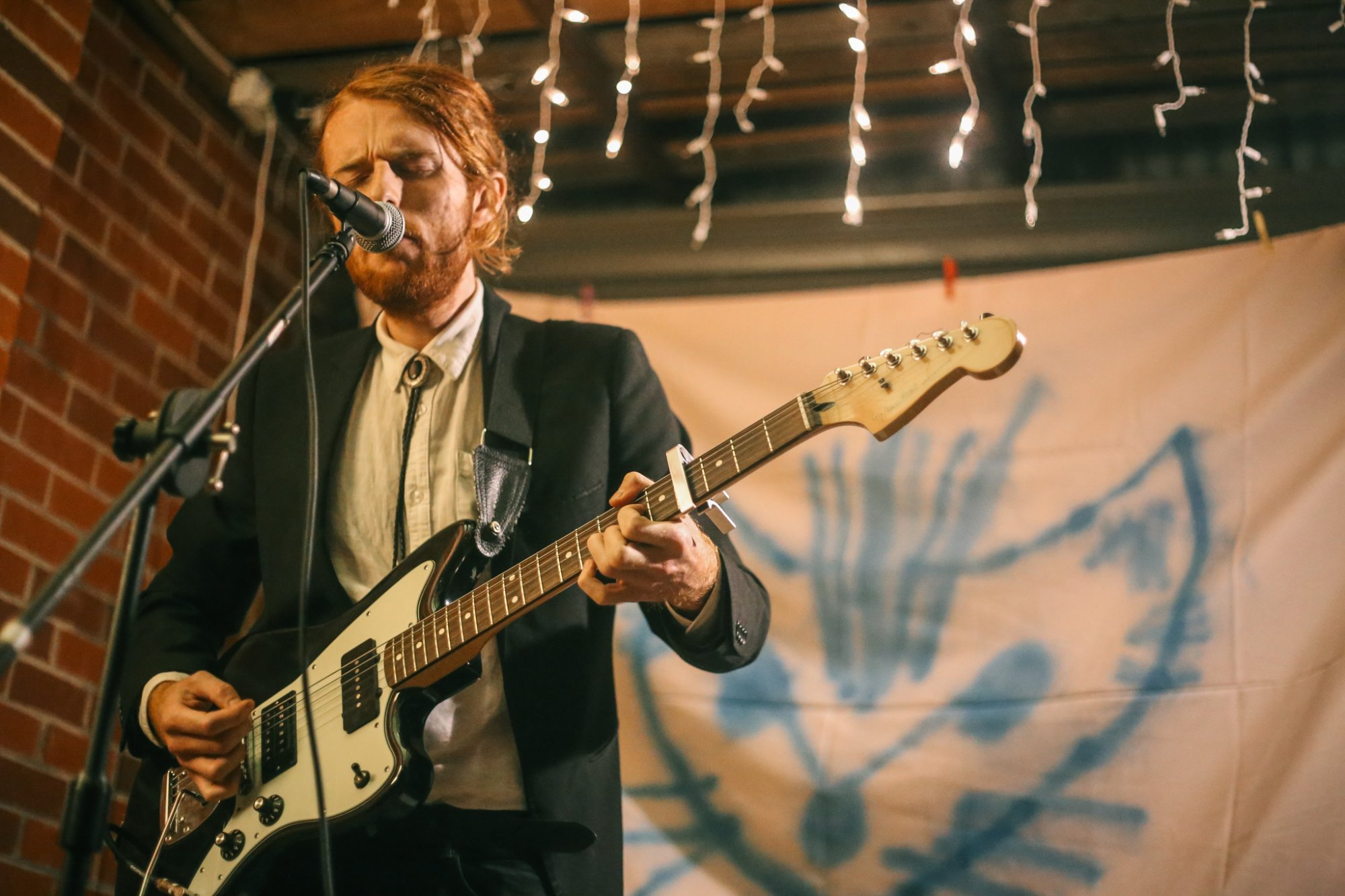 Patrick J. Johnson playing at a Mulgara Show. Patrick is playing friday night at No Front Fences. Photo by Dave McCarthy