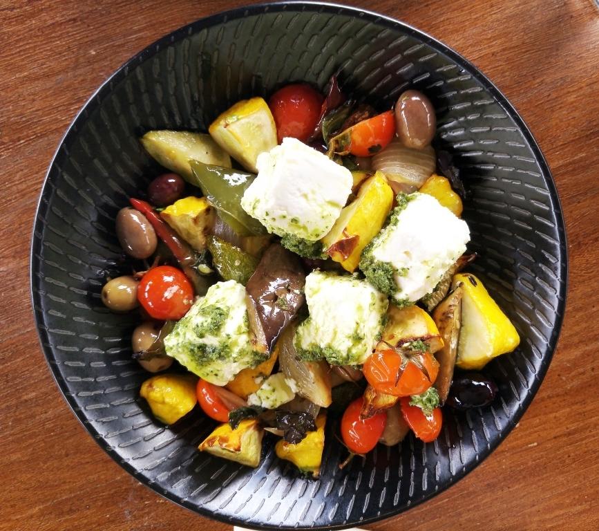 provencale with soft fetta and pesto