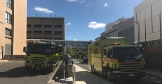 Hospital chaos  services restricted after switchboard fire
