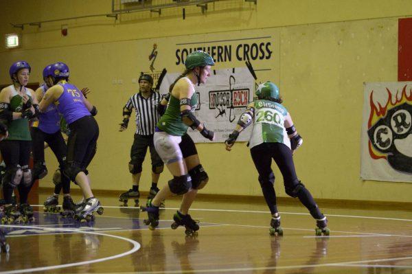 Surly Griffins 28 EleStomp skates around a corner