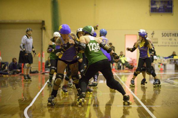 Surly Griffins 1236 Madge blocking the Brindabelters jammer