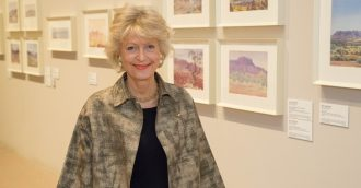 NGA celebrates major gift of Albert Namatjira paintings in   8216 Painting Country  8217
