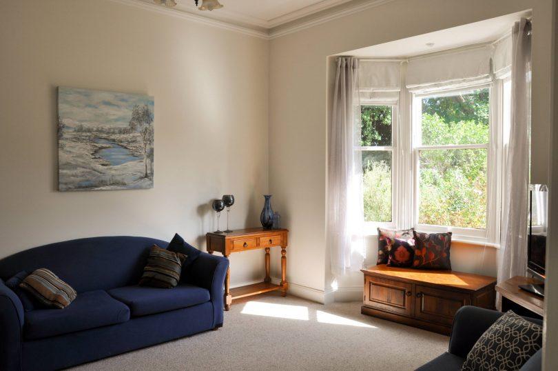 Lounge room and bay window