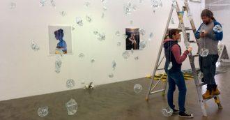 Three artists mix their media at ANCA