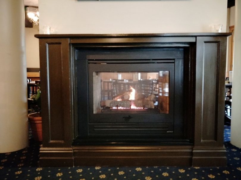 Kingston Hotel fireplace