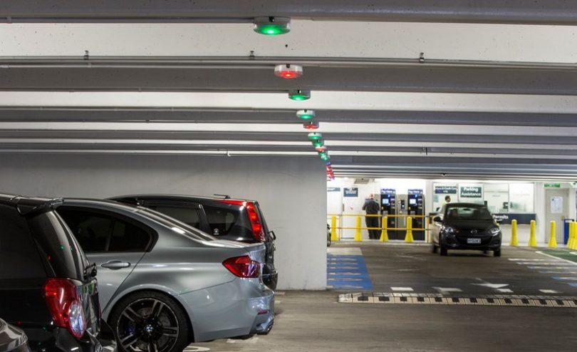Underground parking bays