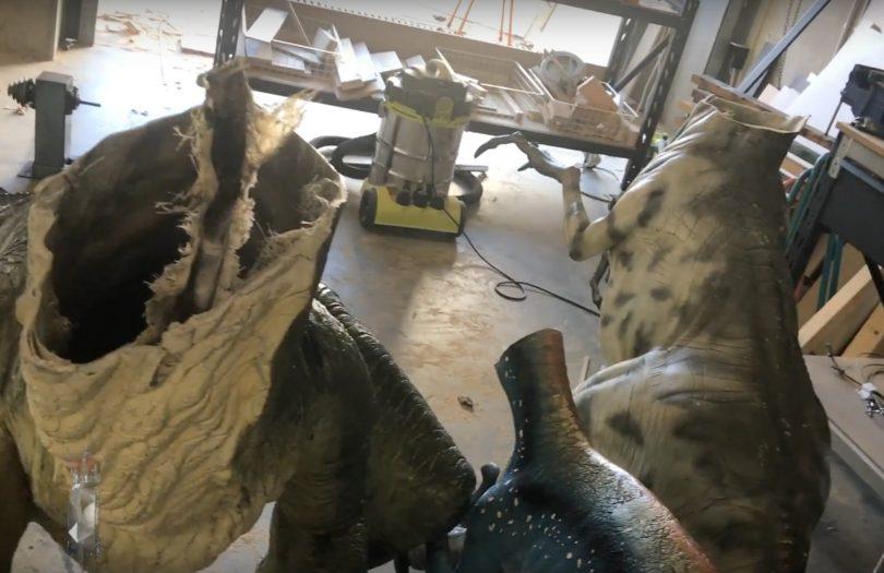 Police investigate dinosaur damage in Nicholls