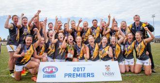 Queanbeyan Tigers win AFL Canberra women   s premiership