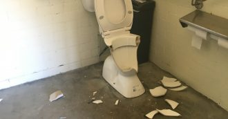 Wanton vandalism of sporting field toilet block    disappointing