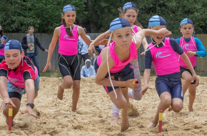 Kids on sand