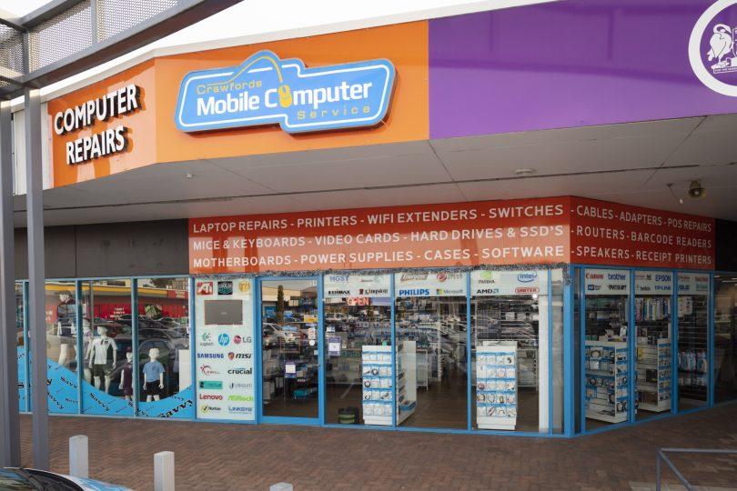Crawford's Mobile Computer Service shopfront