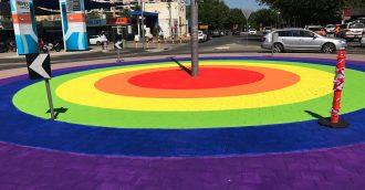 Braddon  8217 s rainbow roundabout a symbol of city  8217 s diversity