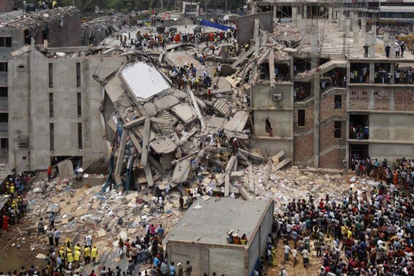 Rana Plaza collapse. Photo courtesy Wikipedia.