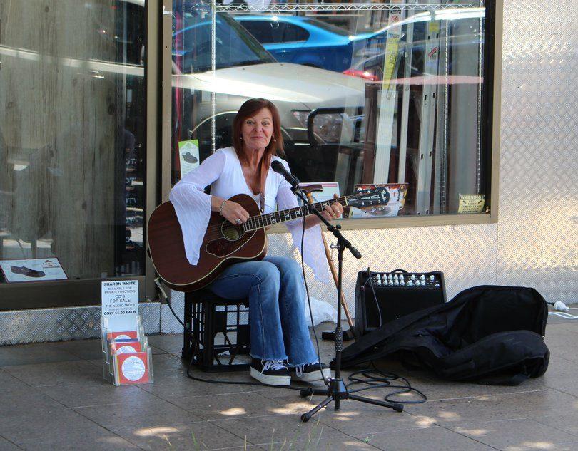 "Sharon White, ""Music is healing."" Photo: Ian Campbell"