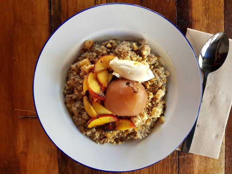 Quinoa porridge.