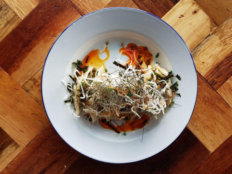 Food with a twist: Meadow's special mushroom dumpling.