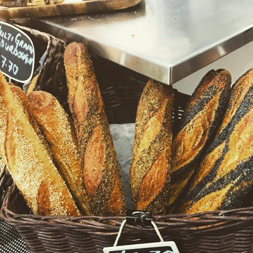 Freshley baked 'Baked' bread.