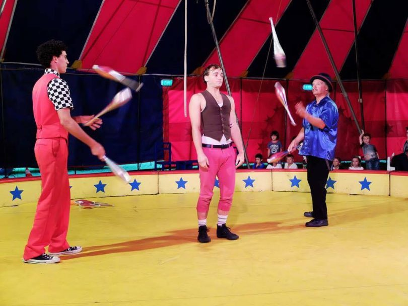 Rhys as part of the ensemble at Circus Aotearoa in 2016. Photo: Circus Aotearoa