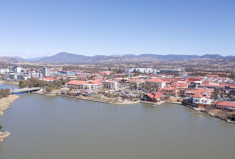 Aerial view of Lake Tuggeranong