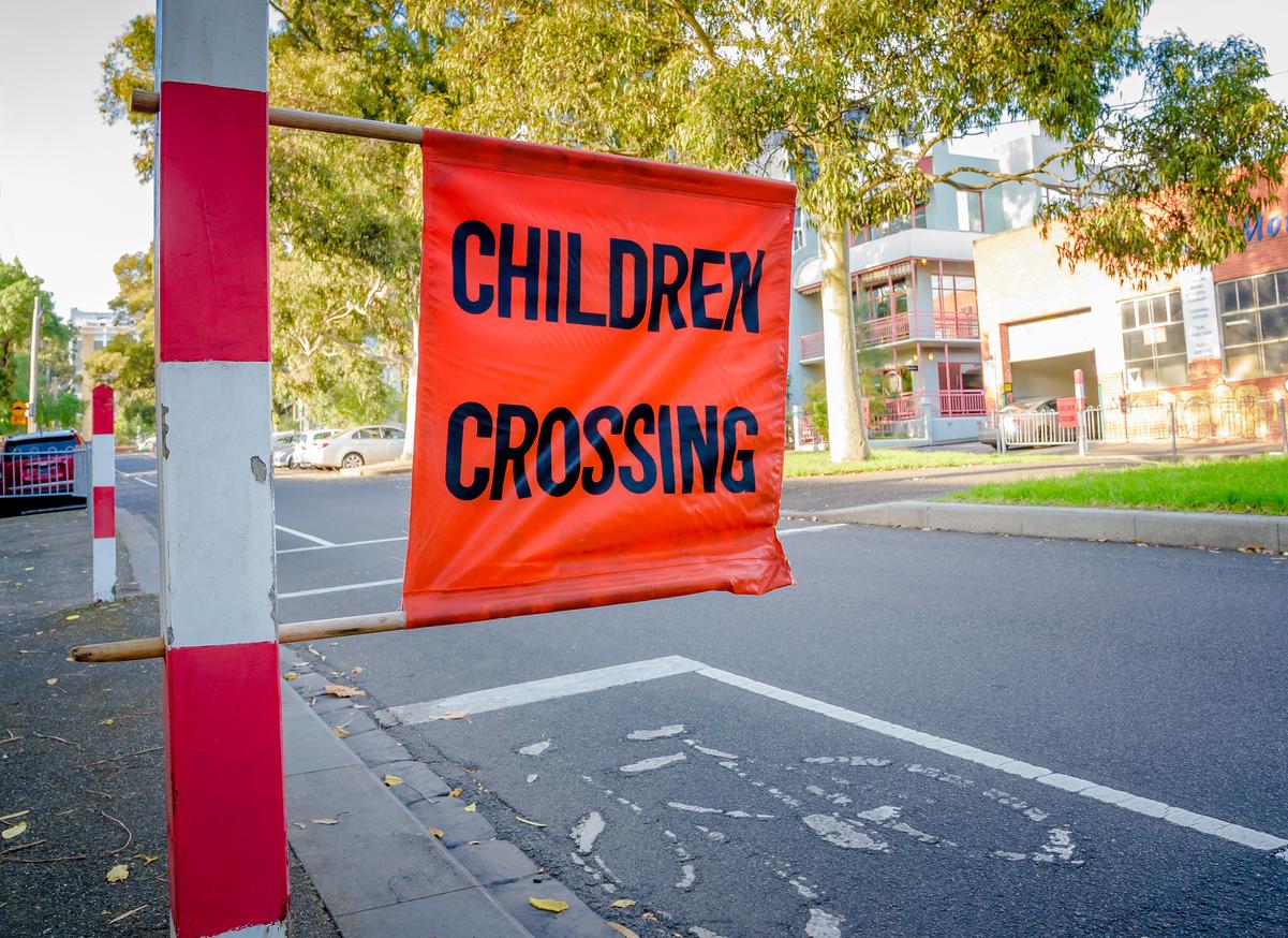 Children school crossing