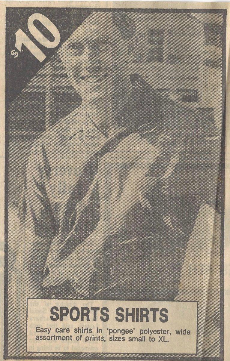 Ken modelling in 1982 (image supplied).