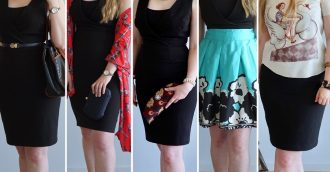 1 dress  5 different looks! Super easy  2-minute wardrobe transition ideas