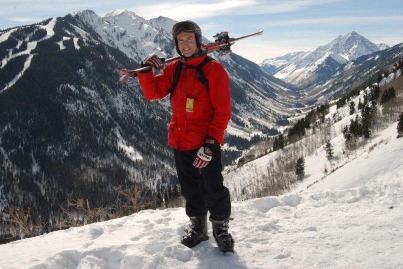 Ken skiing in Aspen in 2009 (image supplied).