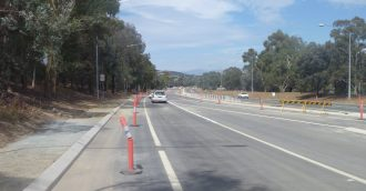 Almost there  Ashley Drive close to completion with final layers of asphalting this weekend