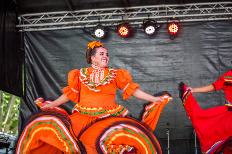 Performers at Multicultural festival.